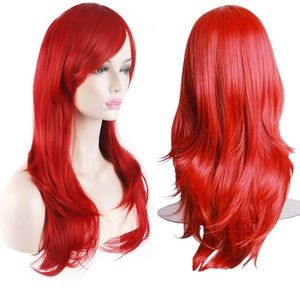 BRAND NEW- Fire red wig- WITH hair net/cap